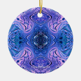 Turquoise Purple Glass Abstract Christmas Tree Ornaments