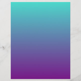 Turquoise Purple Ombre