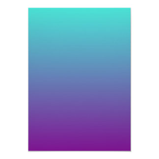 Turquoise Purple Ombre Card