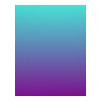 Turquoise Purple Ombre Letterhead