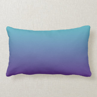 Turquoise Purple Ombre Lumbar Pillow