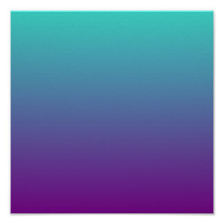 Turquoise Purple Ombre Poster