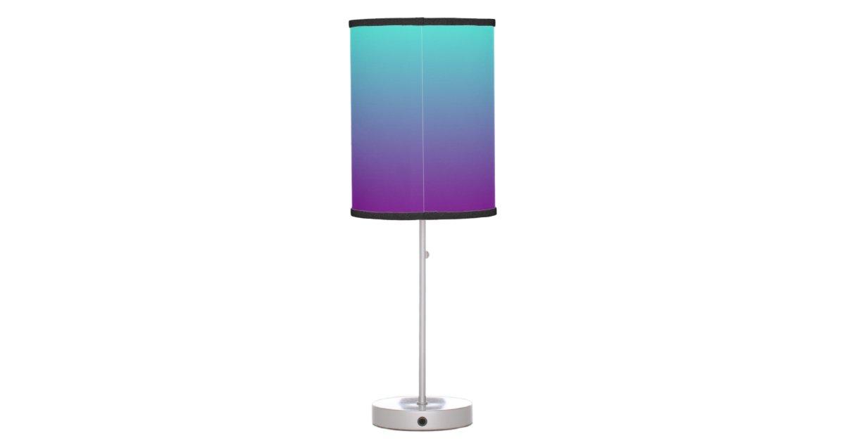 Turquoise Purple Ombre Table Lamp Zazzle