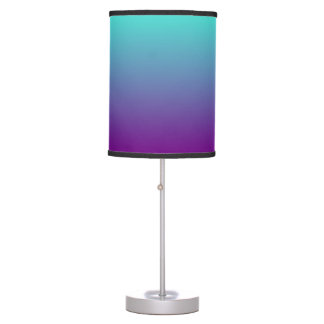 Turquoise Purple Ombre Table Lamp