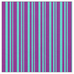 [ Thumbnail: Turquoise & Purple Pattern Fabric ]