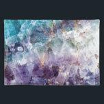 "Turquoise &amp; Purple Quartz Crystal Cloth Placemat<br><div class=""desc"">Turquoise &amp; Purple Quartz Crystal</div>"
