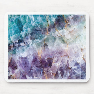Turquoise & Purple Quartz Crystal Mouse Pad