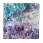 """Turquoise &amp; Purple Quartz Crystal Tile<br><div class=""""desc"""">Turquoise &amp; Purple Quartz Crystal</div>"""
