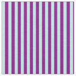 [ Thumbnail: Turquoise & Purple Striped/Lined Pattern Fabric ]