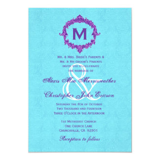 Purple And Turquoise Wedding Invitations & Announcements   Zazzle