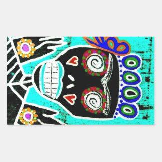 Turquoise Queen Sugar Skull Angel Sticker