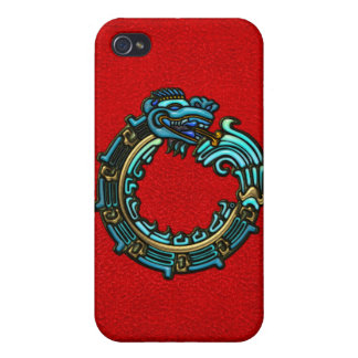 Turquoise Quetzalcoatl Cover For iPhone 4