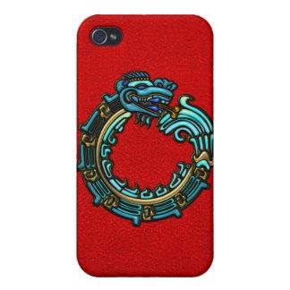 Turquoise Quetzalcoatl iPhone 4/4S Cases