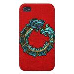 Turquoise Quetzalcoatl iPhone 4 Case