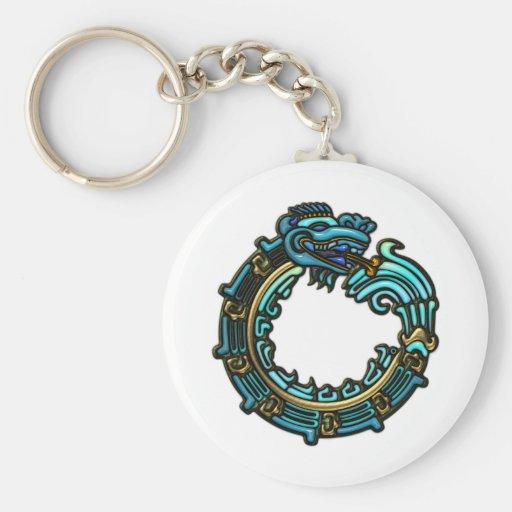 Turquoise Quetzalcoatl Keychain