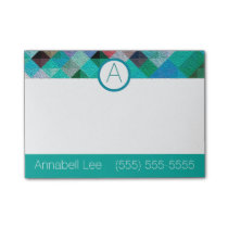 Turquoise Quilty Post-it Notes