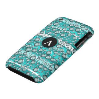 turquoise raindrops iPhone 3 Case-Mate case