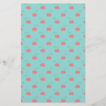Turquoise red cherry pattern