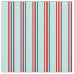 [ Thumbnail: Turquoise & Red Colored Pattern of Stripes Fabric ]