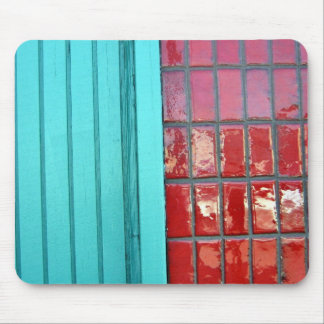 Turquoise Red Mouse Pad