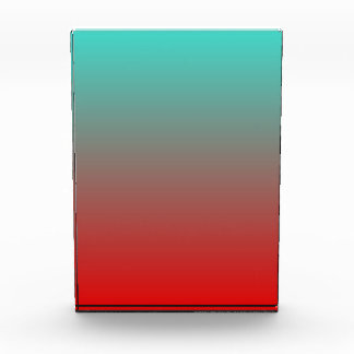 Turquoise Red Ombre Acrylic Award