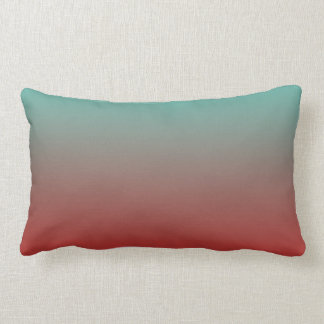 Turquoise Red Ombre Pillow