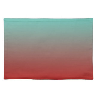 Turquoise Red Ombre Placemat