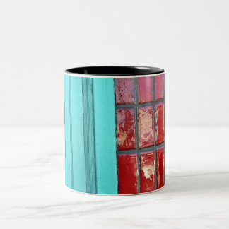 Turquoise Red Two-Tone Coffee Mug