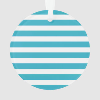 Turquoise Retro Colorful Modern Stripes Pattern Ornament