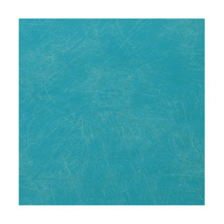 Turquoise Retro Grunge Scratched Texture Wood Wall Art