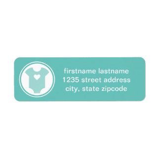 Turquoise Return Address Labels | Baby Shower