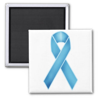 Turquoise Ribbon 2 Inch Square Magnet