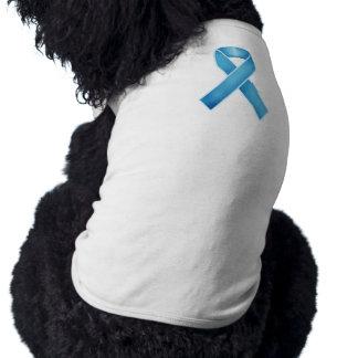 Turquoise Ribbon Dog T Shirt