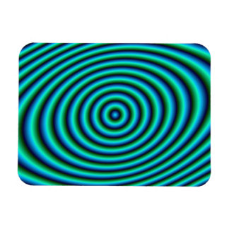 Turquoise Rings Photo Magnet
