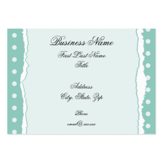 Turquoise Ripped Paper Business Card