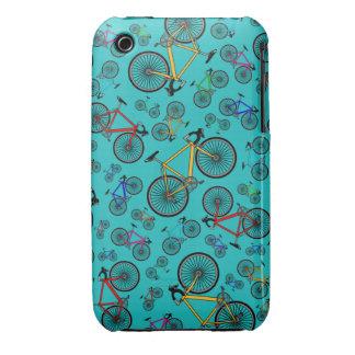 Turquoise road bikes iPhone 3 Case-Mate cases