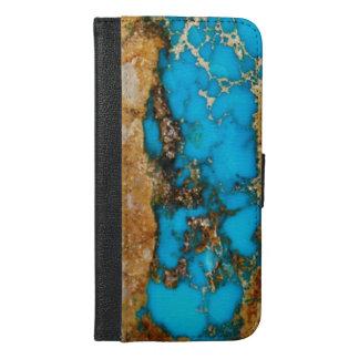 Turquoise Rock 1 iPhone 6/6s Plus Wallet Case