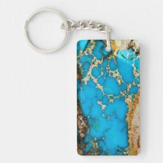Turquoise Rock 1 Keychain