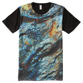 Turquoise Rock All-Over Print T-shirt