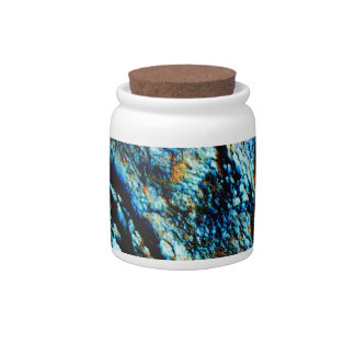 Turquoise Rock Candy Jars