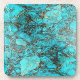 Turquoise Rock Gift Beverage Coaster