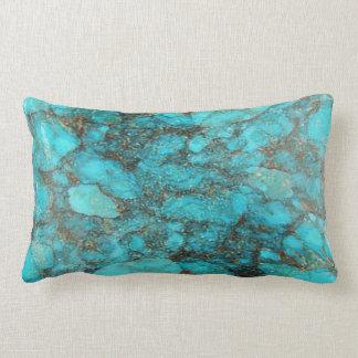 Turquoise Rock Gift Lumbar Pillow