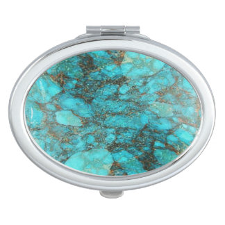 Turquoise Rock Gift Compact Mirrors