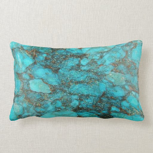 turquoise rock gift pillow