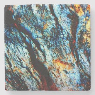 Turquoise Rock Stone Beverage Coaster