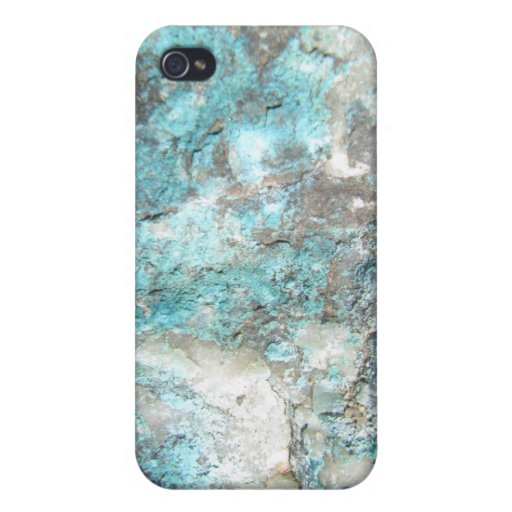 Turquoise Rock iPhone 4/4S Cases