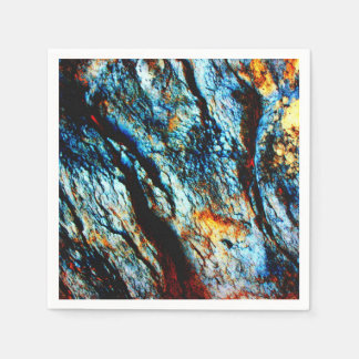 Turquoise Rock Paper Napkin