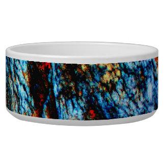 Turquoise Rock Pet Food Bowls