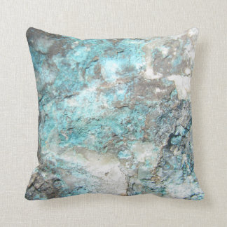 Turquoise Rock Pillow