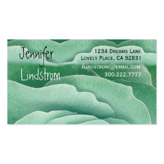 TURQUOISE Rose Business Card Template